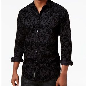 INC Flocked Paisley Dress Shirt
